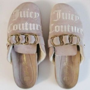 Juicy Couture Suede Slides Slip Ons 9M